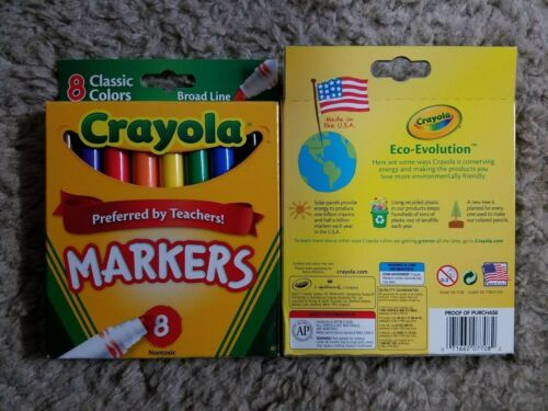 Crayola Broad Line Markers 3 count 8 Packs Nontoxic Colors - Hey Teachers!