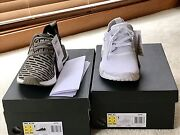 Adidas NMD R1 triple white + NMD R2 PK in 9.5 US Beaumont Hills The Hills District Preview