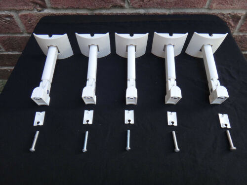 5x Bose UB-20 Wall Speaker Mount Bracket WHITE Extender Lifestyle-18,28,48,25,35
