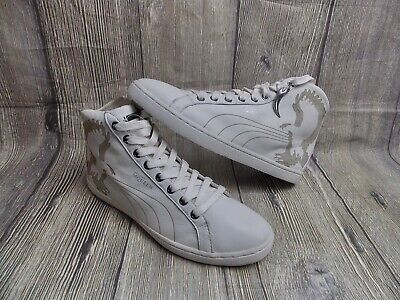 ALEXANDER MCQUEEN BY PUMA EAGLE LASER MID TRAINERS MENS BN GENUINE £160 SHOES 8