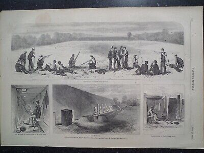 NEGRO WOMAN SMOKING PIPE BY STOVE SONG OF THE KETTLE HARPER/'S WEEKLY ENGRAVING