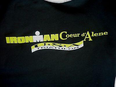 WOMENS large IRONMAN Coeur D' Alene 2013 USA Triathlon Shirt.RYTE Tech Gear. Exc