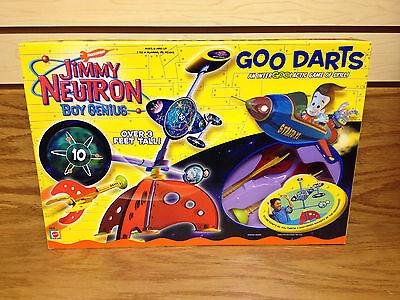 Ultra Rare ~ JIMMY NEUTRON Boy Genius GOO ROCKET DARTS ~ 3 Feet Tall Dart Game