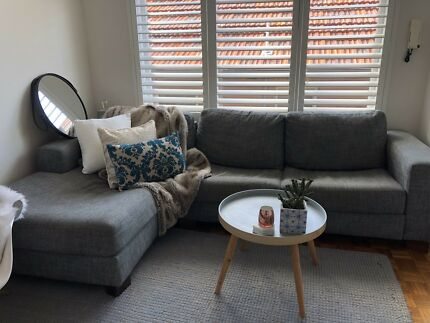 Loved grey couch - L shape