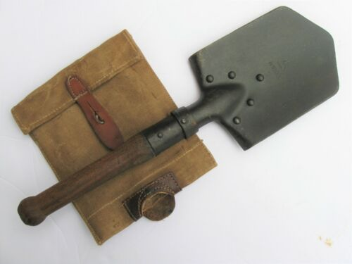 WWI Austro-Hungarian entrenching shovel with erzatz cover
