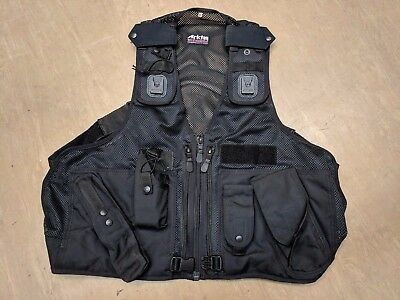 Original Ex Police Arktis Tactical Black Tactial Assault Baton Vest Size XXL #14