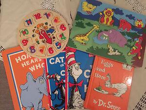 Book/puzzle bundle Dr Seuss wooden toys Myrtle Bank Unley Area Preview
