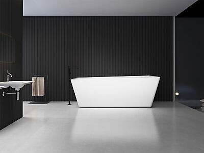 Modern Bathtub Freestanding Tub - Acrylic Bathtub - Soaking Tub - Ermada 67""