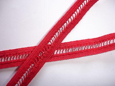 10m elastisches Band 0,25€/m rot Webgummi TA92