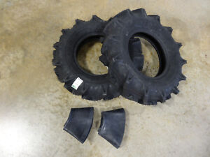 TWO 6.00-12 BKT TR171 Tractor Tires & Tubes 6 ply Real 6.00-12 bigger than 6-12