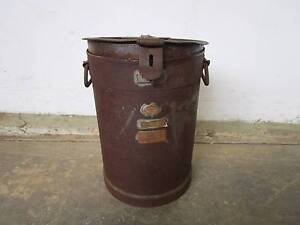 C38065 Old Metal 3 Gallon SANFORD ADELAIDE Milk Can Mount Barker Mount Barker Area Preview