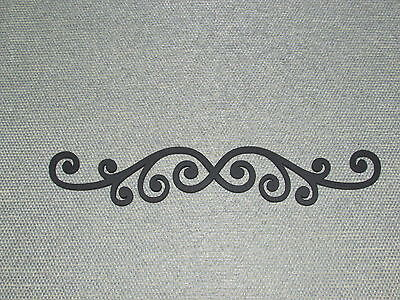 "Decorative Wood 12"" Scroll, Decor Wall Art laser Cut"