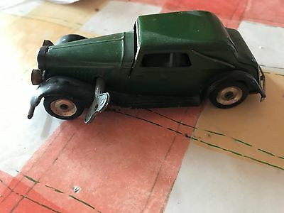 Tri-ang Minic Toys Vauxhall Wind-up Vintage Tinplate Model Car