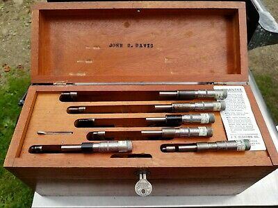 Nice Vintage 6 J.t. Slocomb Outside Micrometers From 1 To 6