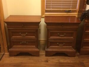 A set of bed side tables