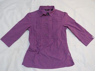 Berghaus size 8 'Argentium' 3/4 sleeve, purple top.