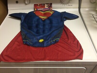 4 Year Old Boy Costumes (New Man of Steel Superman Muscle Chest Shirt Set Kit Child 4-6 year old)