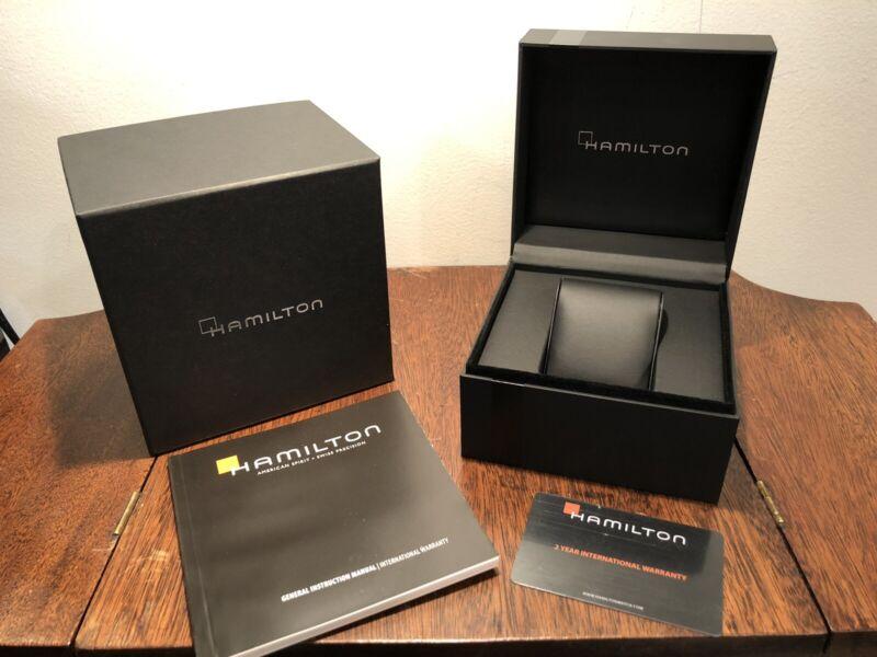 New Hamilton Watch Gift Retail Presentation Box & Instruction Manual