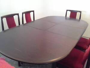 Dining Table- Extendable with 6 Upholstered chairs Meadowbrook Logan Area Preview