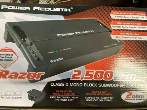 Power Acoustik RZR1-2500D Mono 2500 Watts Subwoofer Amplifier NEW