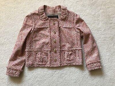Louis Vuitton Womens Jacket Linen Pink Salmon EU 40 New