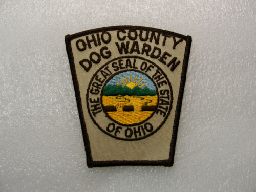 """Collectible ANIMAL CONTROL PATCH Ohio County OHIO Plastic Backed PATCH 4"""" x 4"""""""