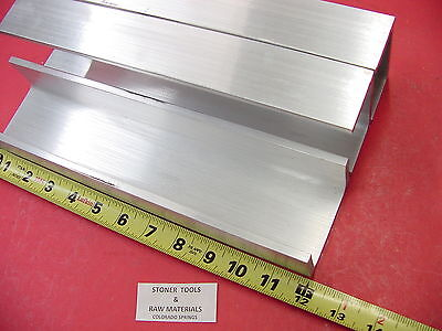 3 Pieces 3x 1.75 Aluminum Channel 6061 X .26 Flang 12 Long T6 Mill Stock