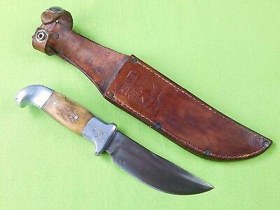 "Custom Hand Made R.H. RUANA Model 14B ""Knife"" Stamped Stag Hunting Skinner Knife"