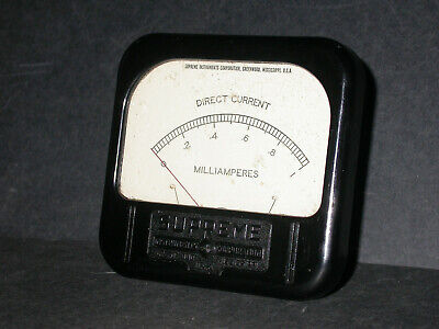 Supreme Model 4107 1ma Milliamps Dc 4 X 4 14 Analog Panel Meter