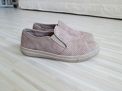 Gabor Ledersneaker für Damen, beige, Gr. 4,  TOP ZUSTAND!