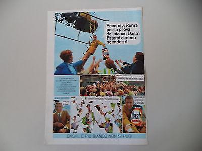 advertising Pubblicità 1968 DETERSIVO DASH e MIKE BONGIORNO