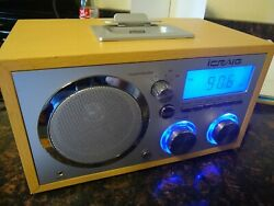 iCRAIG RETRO CLOCK RADIO WITH aux and IPOD DOCK ALARM ~ BLUE BACKLIT