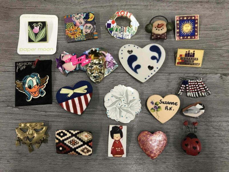 Costume Jewelry Pin Brooches Craft Style Handmade