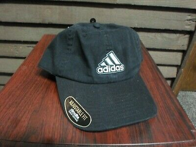 Black Adidas Adjustable Fit Climalite Baseball Hat BRAND NEW