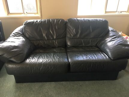 Moran leather couch