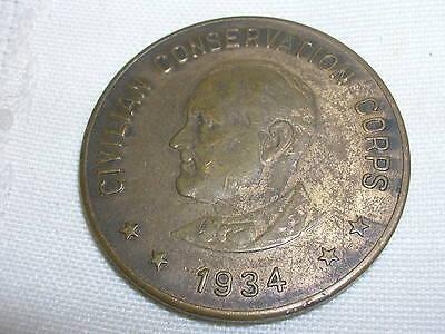 Vintage 1934 Civilian Conservation Corps Member Coin Token C C C  1 1 4  Fdr