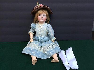"Antique 18"" German Doll Sleep Eyes Bisque Head Composite Body"