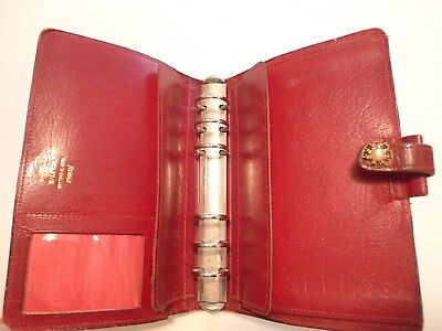 Filofax- Calf Leather Planner -vintage- Made In England- Classic- Model 4clf 78