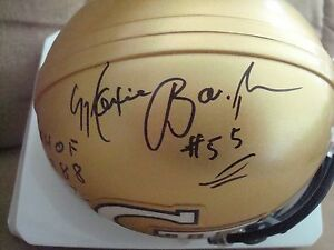 Maxie-Baughan-AUTOGRAPH-GEORGIA-TECH-Mini-Helmet-SIGNED-CFHOF-1988