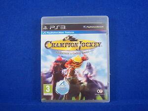 ps3 CHAMPION JOCKEY G1 Jockey & Gallop Racer Horse Racing Playstation PAL