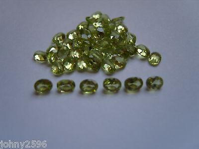4x3 oval cut peridot loose gemstones,2 stones for £1.50p