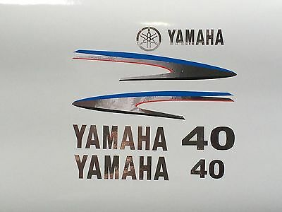 Yamaha 40 / 50 / 60 hp  Outboard Decal Custom CHROME Sticker Kit Marine vinyl