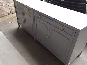 Buffet server sideboard credenza cabinet tv media stand