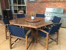 7 Pieces Outdoor Setting-Acacia Hardwood Timber in good Condition Dingley Village Kingston Area Preview
