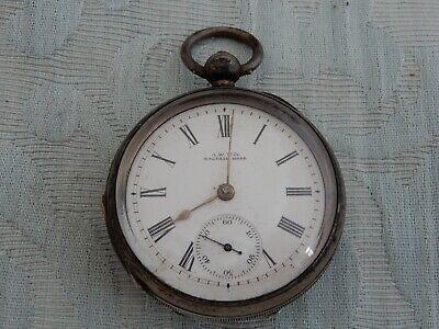 Silver 1899 Keywind Waltham Pocket Watch, repair & service, genuine estate find