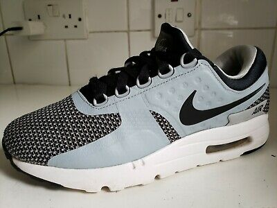 NIKE AIR MAX ZERO ESSENTIAL MENS TRAINERS BLACK, GREY, LIGHT BLUE 876070 UK 7 41