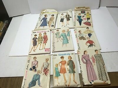 VTG MIXED LOT PRE-ZIP 1960S PATTERNS WOMENS FASHION McCALL BUTTERICK SIMPILICTY
