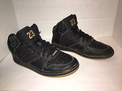 Jordan 1 Flight 4 Prem 828237-070 Basketball Black Gold Size 7Y Boys High Top