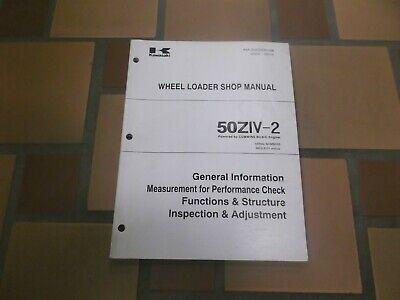 Kawasaki 50ziv-2 Wheel Loader Service Repair Electrical Wiring Diagram Manual