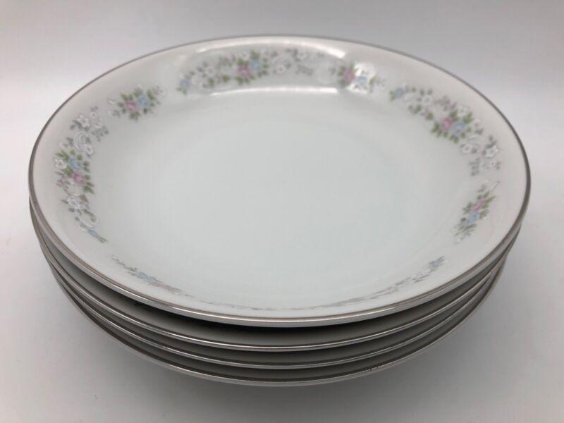 Carlton CORSAGE Coupe Soup Bowl Set of 4  Pattern #481